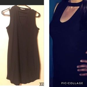 Little black dress with cut-out
